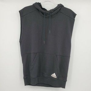 Adidas Sleeveless Hooded Cotton Terry Shirt Mens S